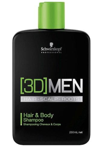 Schwarzkopf Professional Haarshampoo »3D Men Hair & Body Shampoo«, (1 tlg.), 2 in 1 kaufen
