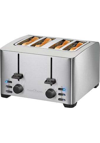ProfiCook Toaster »PC-TA 1073«, 4 kurze Schlitze, für 4 Scheiben, 1500 W kaufen