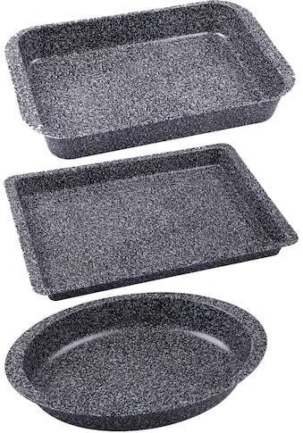 CHG Auflaufform »Granito«, Stahlblech, (3 St.), SkandiaXtrem Plus Antihaftbeschichtung kaufen