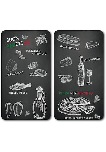 """KESPER for kitchen & home Schneide -  und Abdeckplatte """"Ristorante"""", ESG - Sicherheitsglas, (Set, 2 - tlg.) kaufen"""