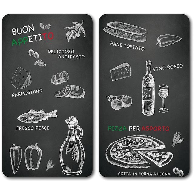 """KESPER for kitchen & home Schneide- und Abdeckplatte """"Ristorante"""", ESG-Sicherheitsglas, (Set, 2-tlg.)"""