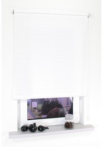 Seitenzugrollo »Dekor Faden«, Liedeco, Lichtschutz, ohne Bohren kaufen