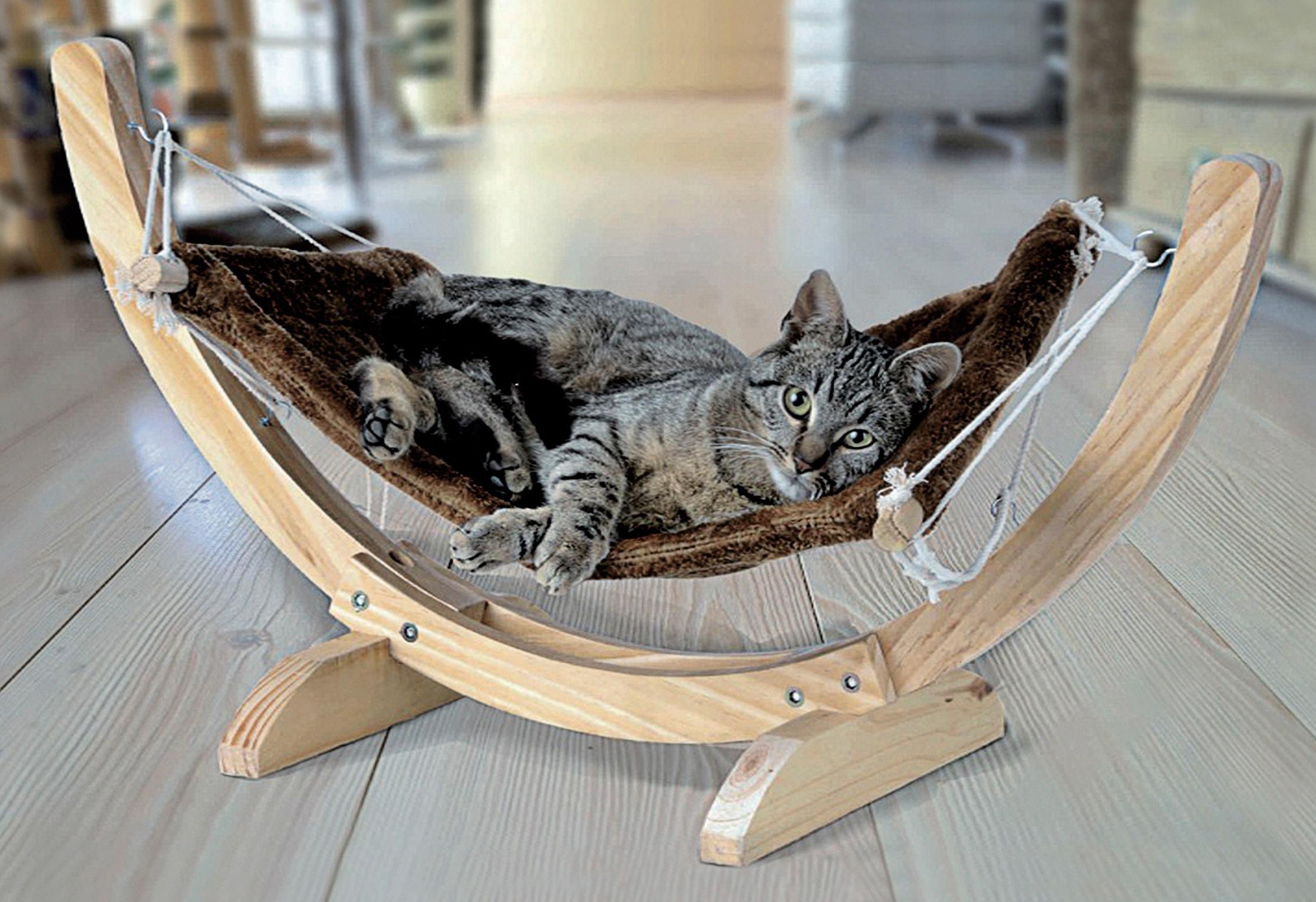Katzen-Hängematte »Cat Relax«   Garten > Tiermöbel > Katzenkörbe   Braun   SILVIO DESIGN
