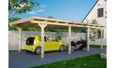 Skanholz Einzelcarport »Emsland«, Leimholz-Nordisches Fichtenholz, 341 cm, natur kaufen