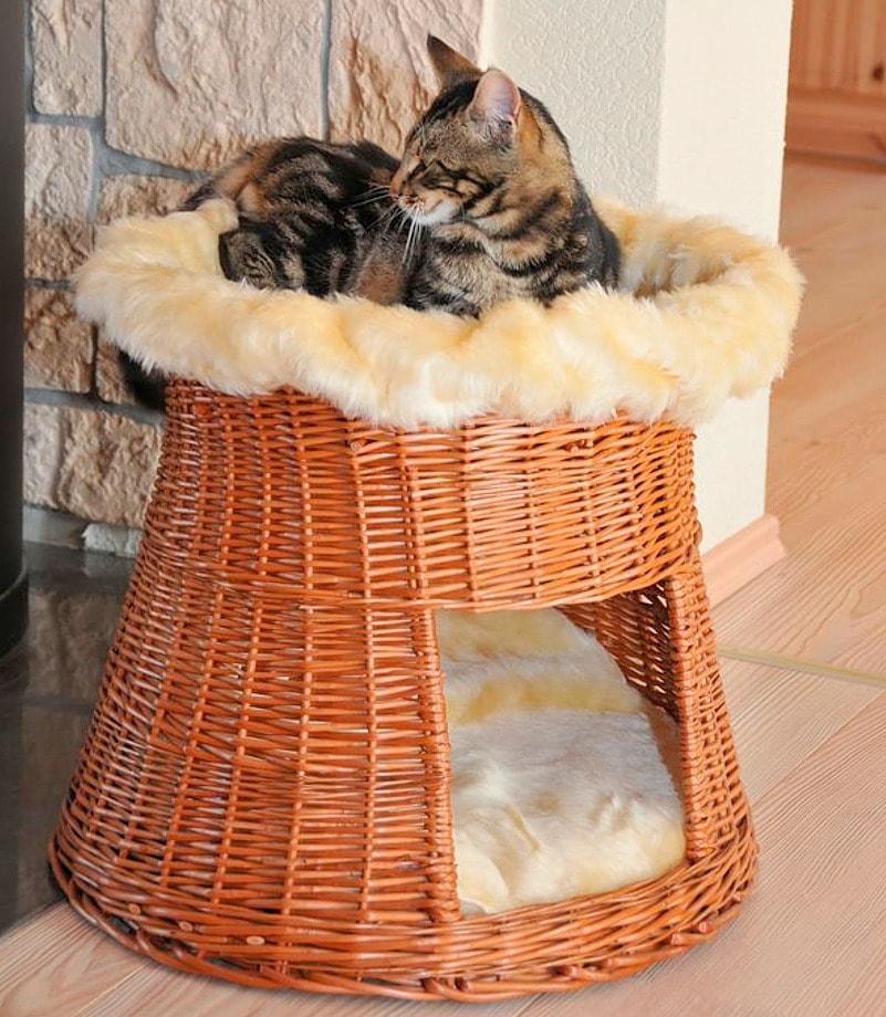 Katzen-Korbturm »Weide« | Garten > Tiermöbel > Katzenkörbe | Braun | SILVIO DESIGN