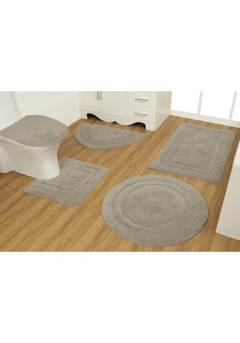 OTTO products Badematte »Annin«, Höhe 15 mm, strapazierfähig, aus recycelter Baumwolle kaufen