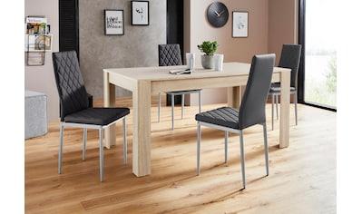 Essgruppe »Lynn160/Brooke«, (Set, 5 tlg.), Tisch mit 4 Stühlen kaufen