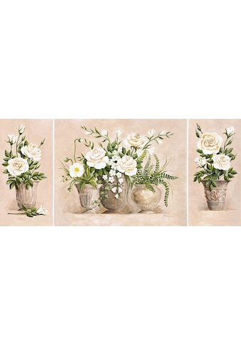 Home affaire Kunstdruck »Rosen Bouquet«, (Set), 3er Set, 132/59 cm kaufen