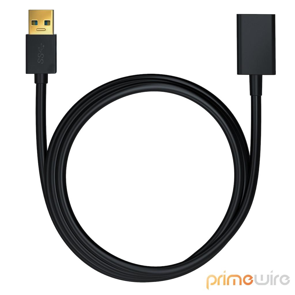 Primewire USB 3.0 Verlängerungs / Erweiterungs Kabel »USB 3.0 TypA Buchse zu USB 3.0 TypA Stecker«