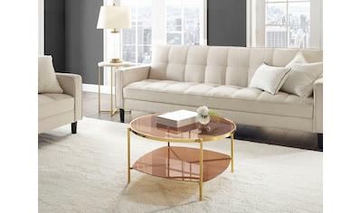 Leonique Couchtisch »Robina«, Elegantes Design, Tischplatten aus Glas kaufen