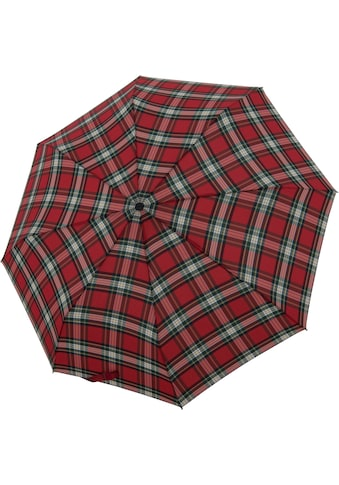 doppler® Taschenregenschirm »Carbonsteel Magic, Karo Rot« kaufen