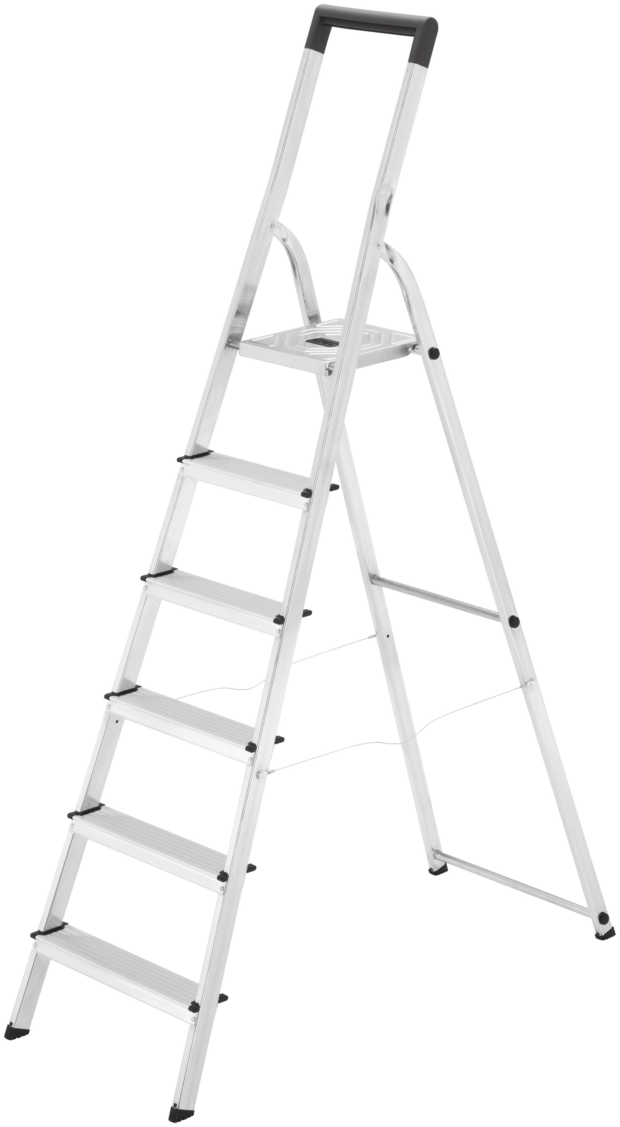 Hailo Sicherheitstrittleiter »L40 EasyClix« | Baumarkt > Leitern und Treppen > Trittleiter | Silberfarben | HAILO