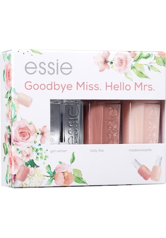 "essie Nagellack - Set ""Bride Set Goodbye Miss. Hello Mrs."", 3 - tlg. kaufen"
