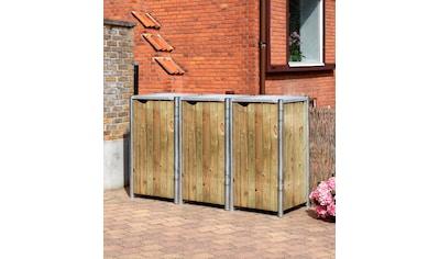 Hide Mülltonnenbox, für 3 x 120 l, natur kaufen