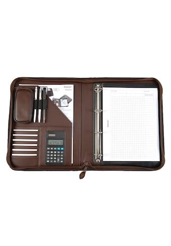 Alassio® Ringbuchmappe »DIN A4, Viterbo«, mit Taschenrechner kaufen