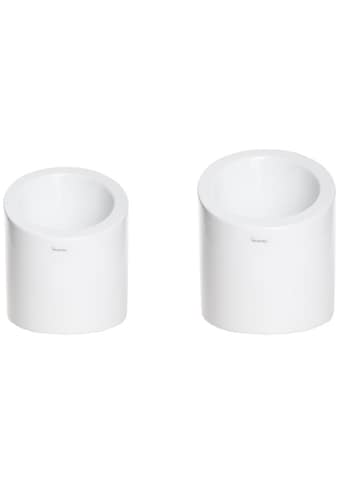 VALENTINO Wohnideen Pflanzkübel »Aspen« (Set, 2 Stück, 1x Ø 13 cm, Höhe 15 cm & 1x Ø 16 cm, Höhe 18 cm) kaufen