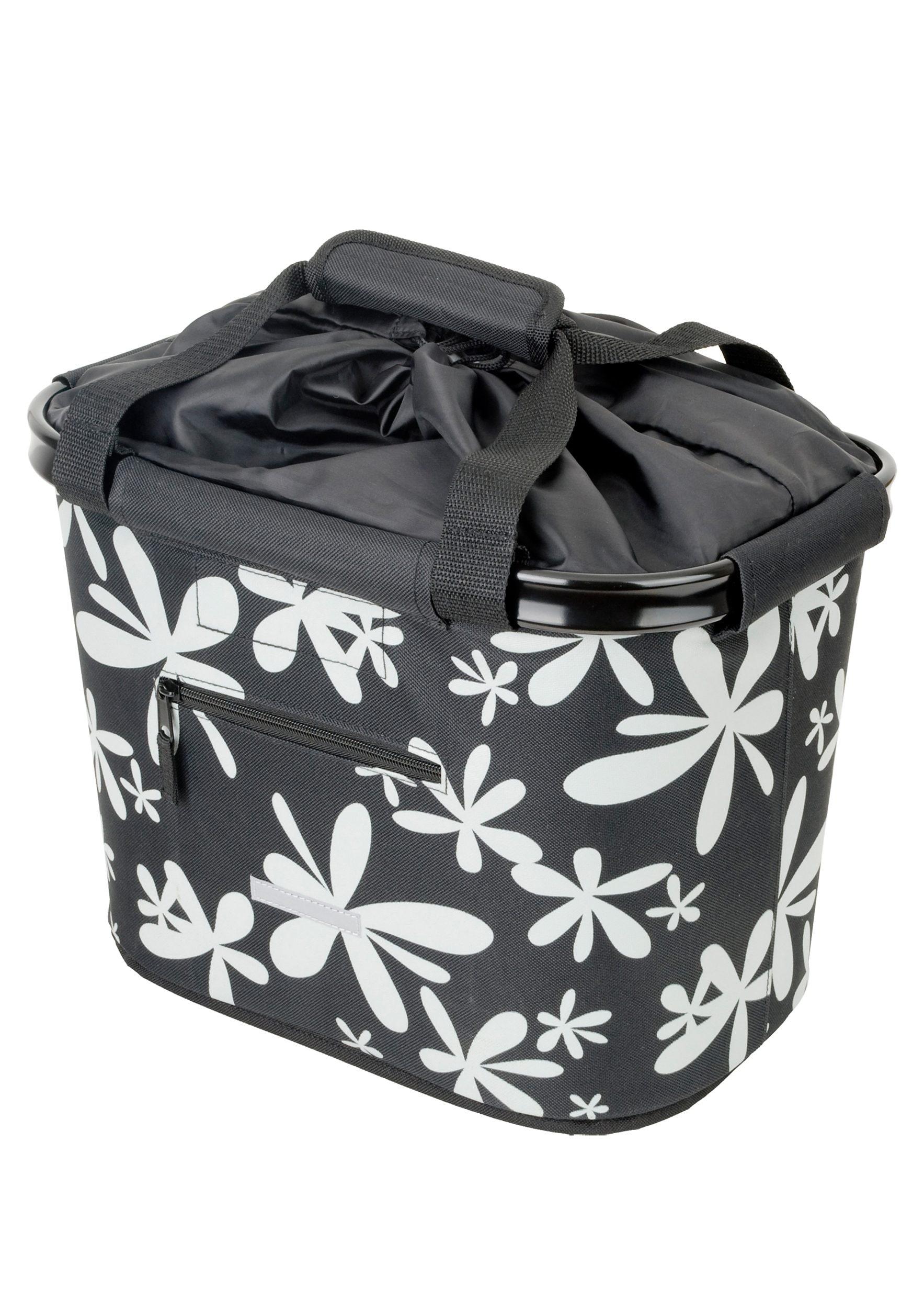 Blue Bird Fahrradtasche »Shopping Bag Blume«   Taschen > Businesstaschen > Fahrrad-taschen Büro   Schwarz   Pe   BLUE BIRD