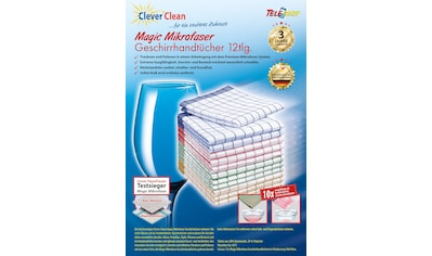 "TELESHOP Geschirrtuch ""CleverClean®Magic Mikrofaser"" (Set, 12 - tlg.) kaufen"
