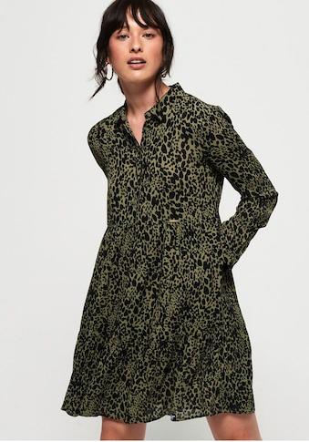 Superdry Blusenkleid »Scandi Shirt Dress«, im Animal Print & leichten Oversized Schnitt kaufen