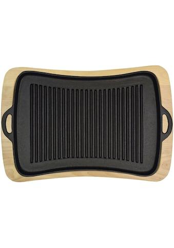 JIM BEAM BBQ Grillplatte mit Holzuntersetzer kaufen