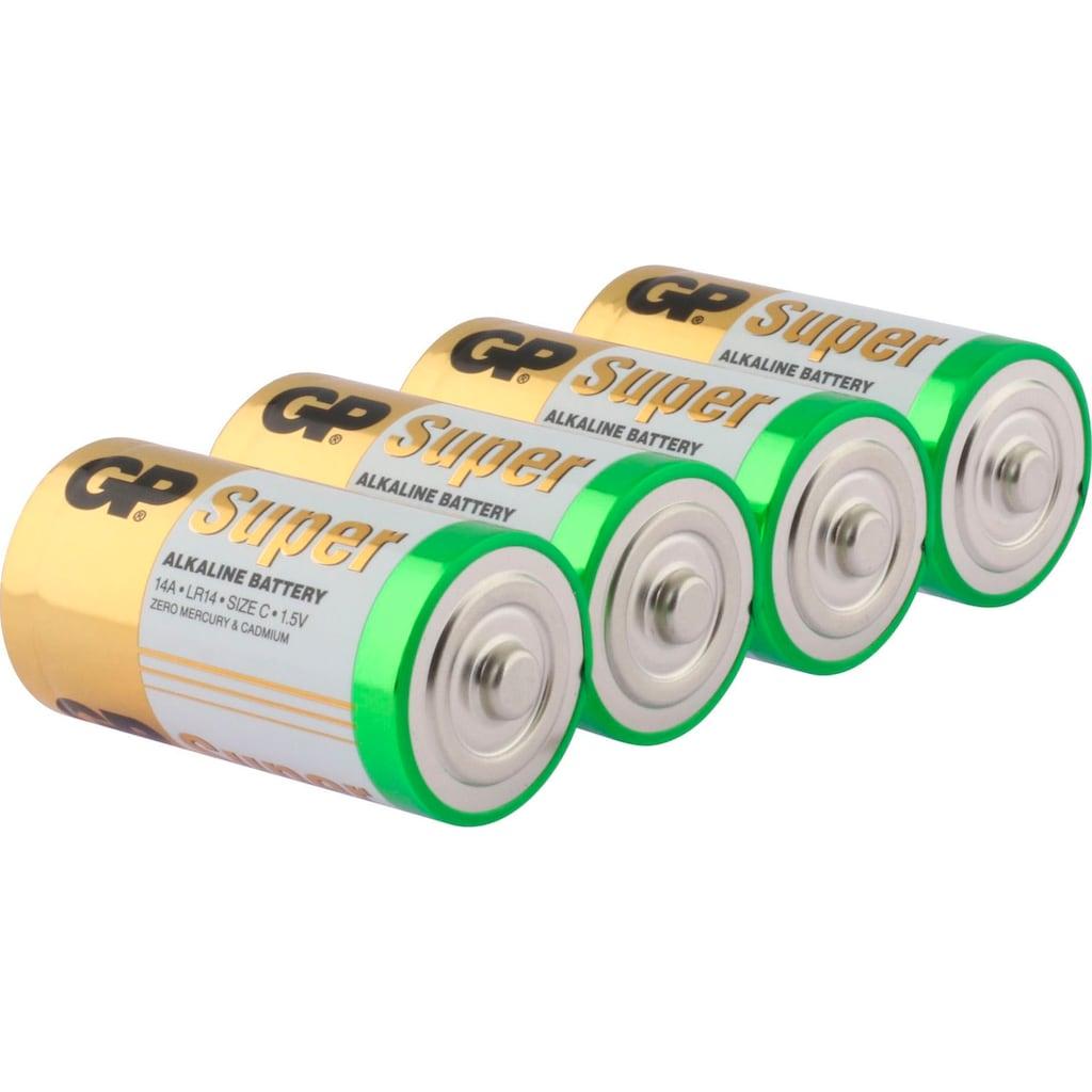 GP Batteries Batterie »Super Alkaline C«, 1,5 V, (Set, 4 St.)