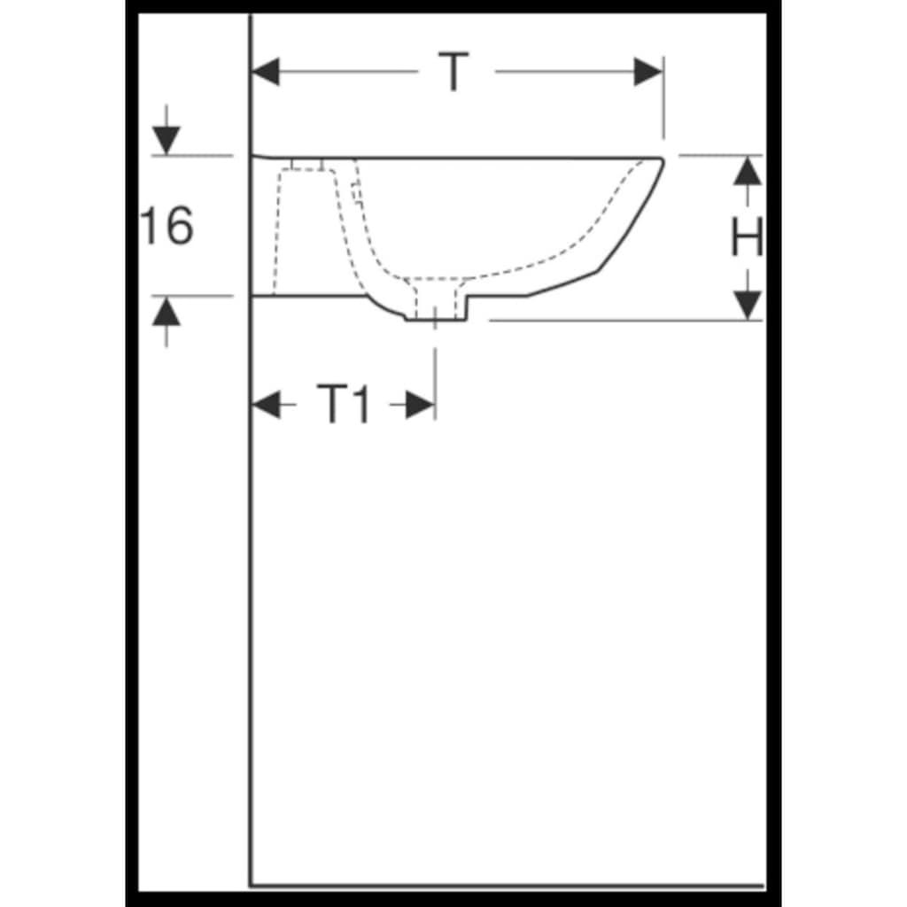GEBERIT Waschtisch »Renova«, BxT: 55x45 cm