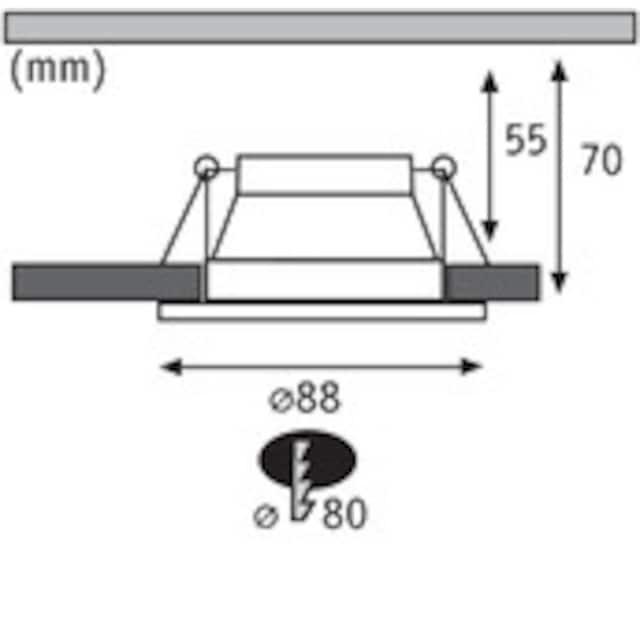Paulmann,LED Einbauleuchte»Set Cole 3x6,5W Weiß/Schwarz matt 3-Stufen-dimmbar 2700K Warmweiß«,