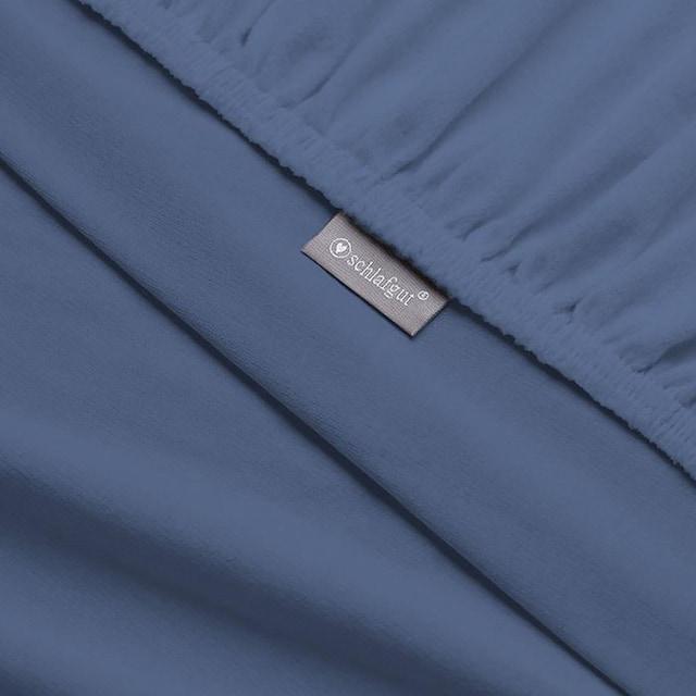 Spannbettlaken »Flausch-Jersey«, Schlafgut