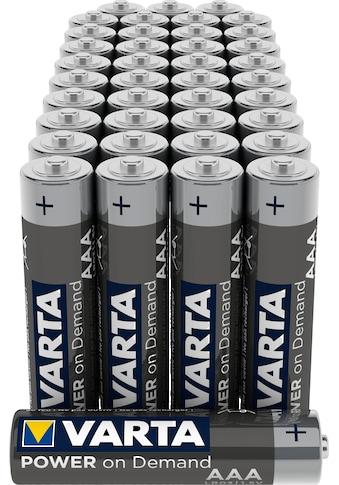 VARTA »VARTA Power On Demand Alkaline Batterie Vorratspack AAA Micro LR03 40er Batterien Pack Made in Germany« Batterie kaufen