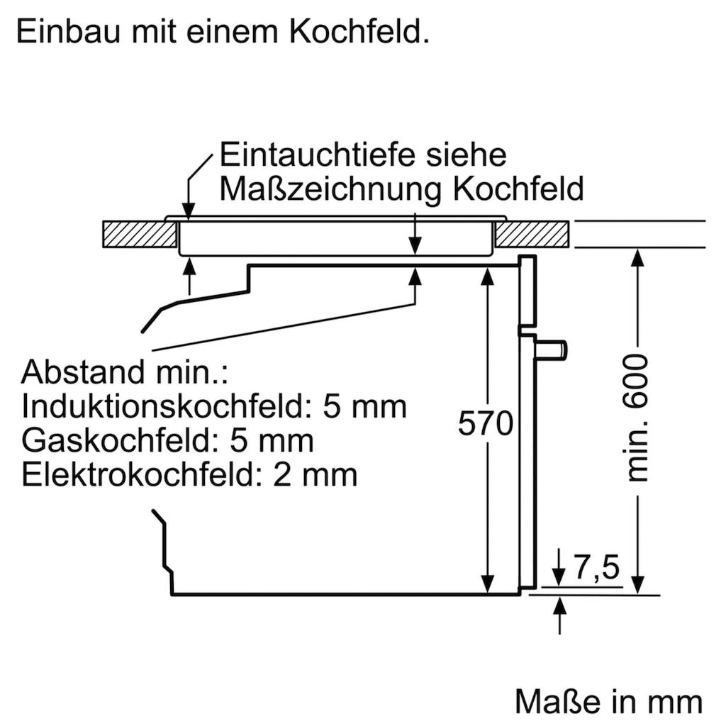 BOSCH Induktions Herd-Set »HND415LS60«, HEA513BS1, mit Teleskopauszug nachrüstbar