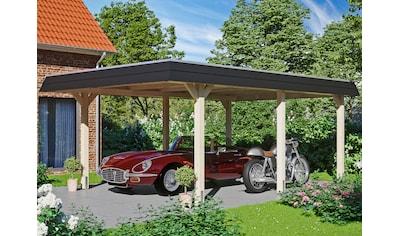 Skanholz Einzelcarport »Wendland«, Leimholz-Nordisches Fichtenholz, 341 cm, natur kaufen