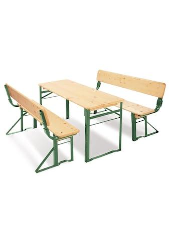 Pinolino® Kindersitzgruppe »Kinderfestzeltgarnitur mit Lehne, Sepp«, (3 St.) kaufen
