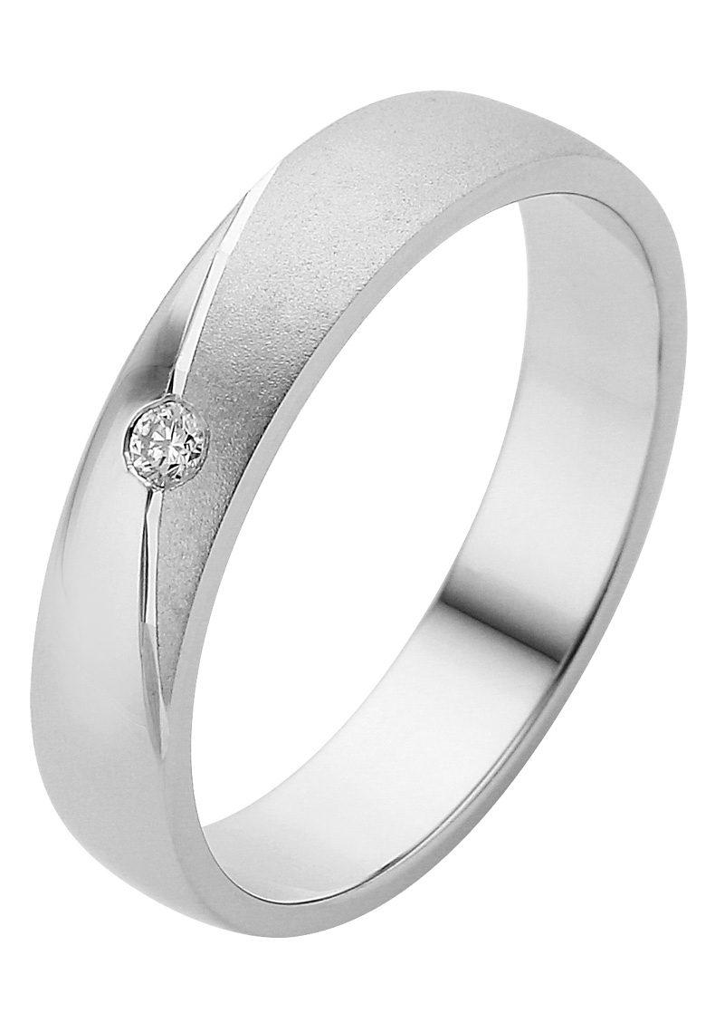 Firetti Trauring mit Gravur »4,0 mm, glanz, sandmatt, Diamantschnitt« | Schmuck > Ringe > Ringe mit Gravur | Firetti