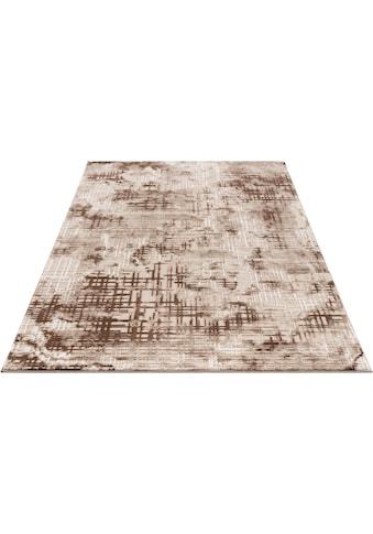 my home Teppich »Cansu«, rechteckig, 12 mm Höhe, Hoch-Tief-Effekt, Wohnzimmer kaufen