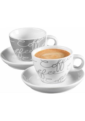 Ritzenhoff & Breker Espressotasse »Cornello Grey«, (Set, 4 tlg.), 2 Tassen, 2 Untertassen kaufen