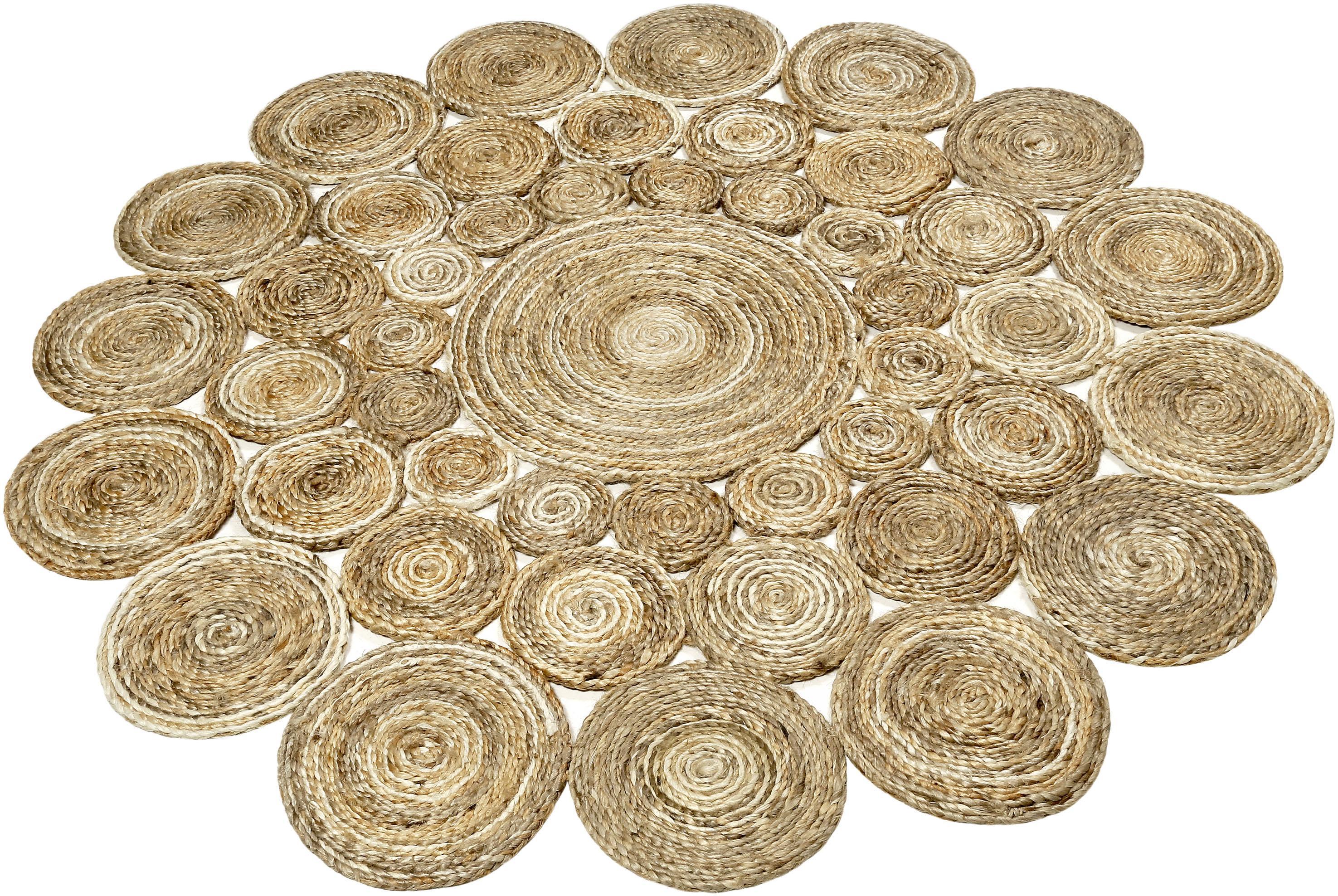 Teppich, »Ceycle Nature«, Esprit, rund, Höhe 7 mm, handgewebt | Heimtextilien > Teppiche > Sonstige-Teppiche | Jute | Esprit
