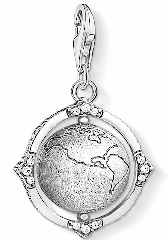 THOMAS SABO Charm-Einhänger »Vintage Weltkugel, 1676-643-14«, mit Zirkonia kaufen