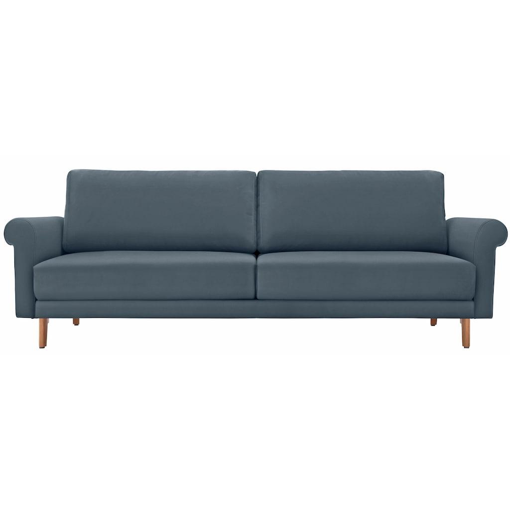 hülsta sofa 3-Sitzer »hs.450«, wahlweise in Stoff oder Leder, im modernen Landhausstil