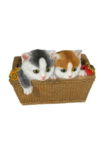 Home affaire Tierfigur »2 Katzen im Korb« kaufen