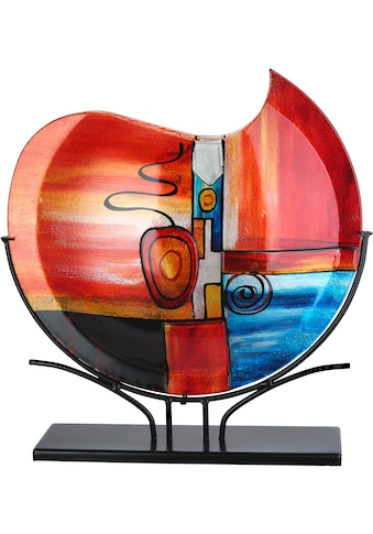 GILDE GLAS art Dekovase »New Life«, handbemalt mit Fusingglas-Elementen kaufen