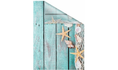 Fensterfolie, »Bretter Beach«, LICHTBLICK, blickdicht, strukturiert kaufen