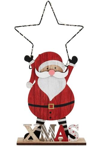 LED Dekofigur »Santa mit Stern«, Warmweiß, mit 8 LEDs, Höhe ca. 35 cm kaufen