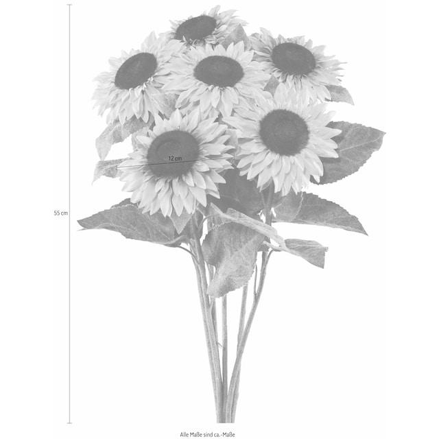 Creativ green Kunstblume »Sonnenblume« (Set, 6 Stück)