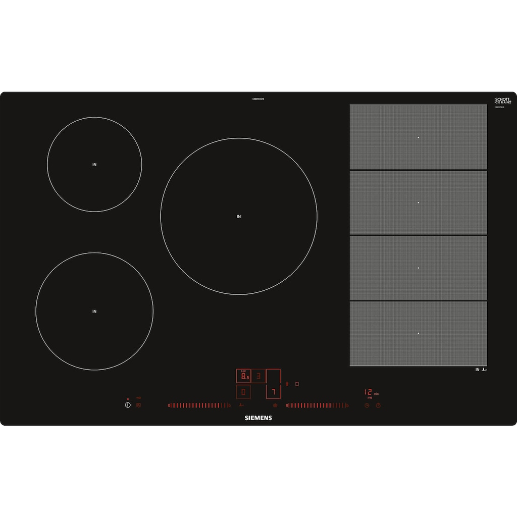 SIEMENS Flex-Induktions-Kochfeld von SCHOTT CERAN®, EX801LVC1E, mit powerMove Plus
