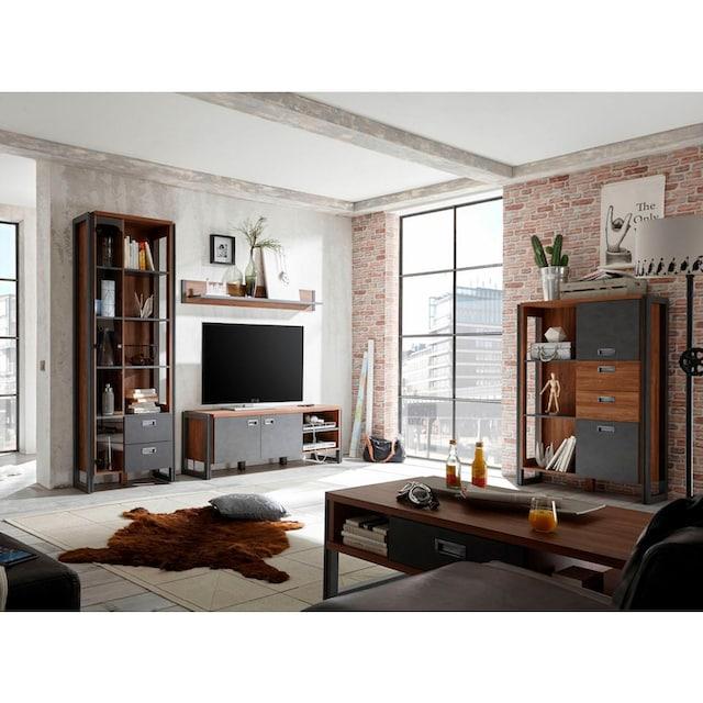 Home affaire Wohnwand »Detroit Set 4« (Set, 4-tlg)
