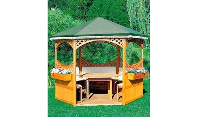 promadino Holzpavillon »Palma«, BxT: 308x308 cm, inkl. Brüstung kaufen