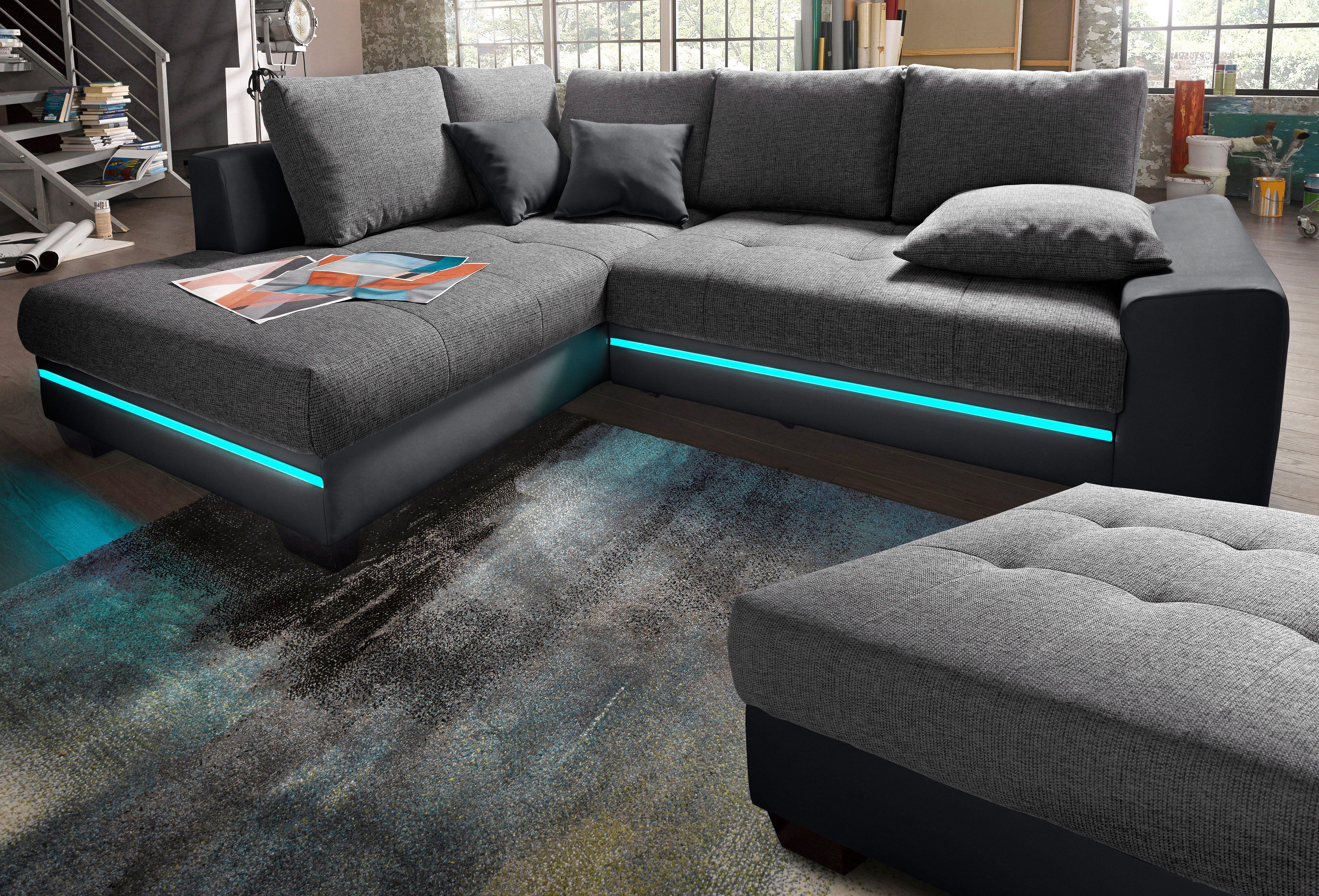 Nova Via Polsterecke Mit Beleuchtung, Wahlweise Mit Bluetooth Soundsystem