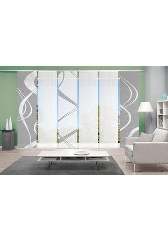Vision Schiebegardine »TIBONO 6er SET«, Bambus-Optik, Digital bedruckt kaufen
