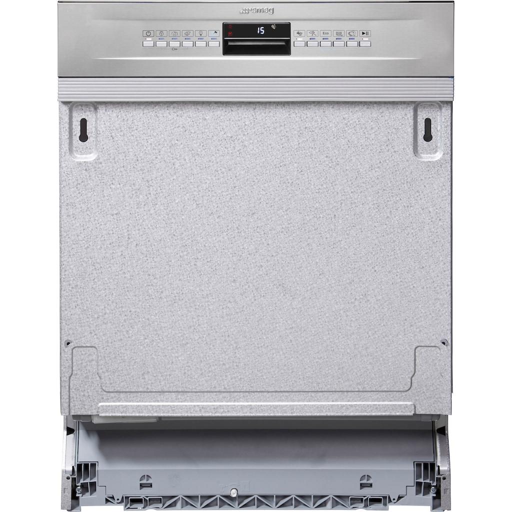 Smeg teilintegrierbarer Geschirrspüler »PL4326XDE«, PL4326XDE, 8,5 l, 13 Maßgedecke