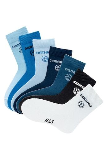 H.I.S Socken, (7 Paar), für Kinder mit Fußballmotiv kaufen
